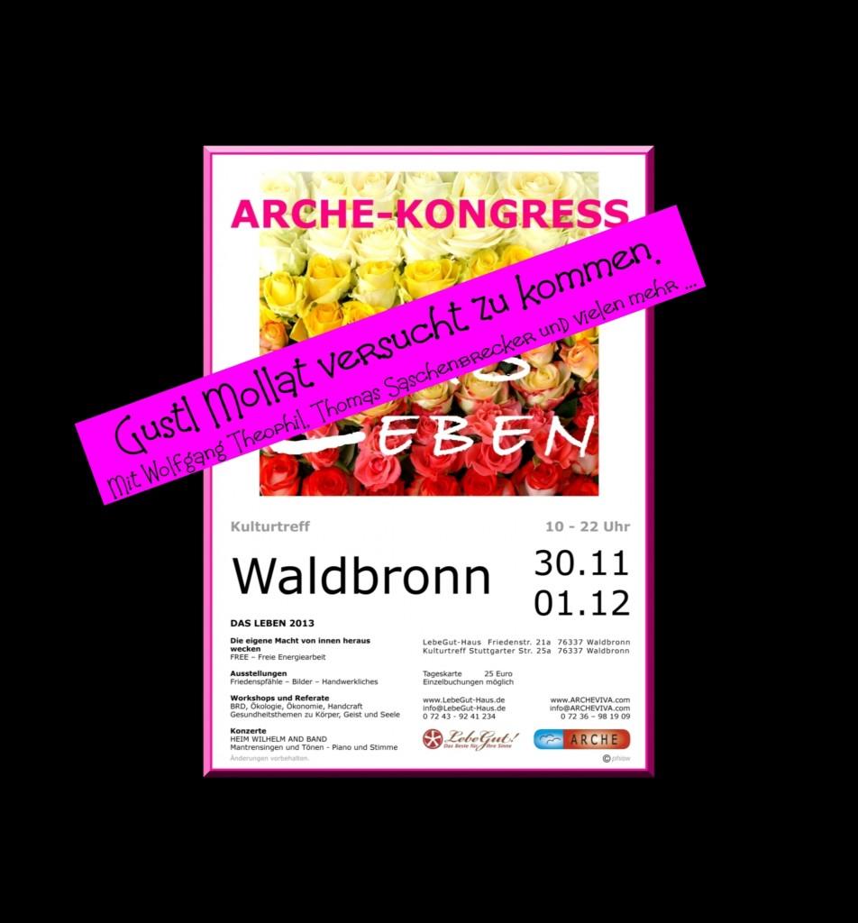 ARCHE-Plakat Keltern-WeilerARCHE-KONGRESS Waldbronn-Reichenbach