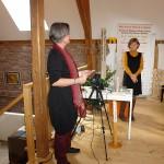Sabine und Dagmar. Beim Vortrag.