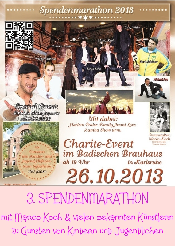 Extern-Plakat Karlsruhe 3. Spendenmarathon 2013