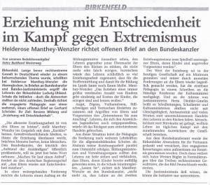 """Medienoffensive von Heiderose Manthey aus dem Jahr 2000 """"Erziehen mit Entschiedenheit im Kampf gegen Extremismus"""" - Diese Form von Erziehung war nicht vom System gewollt."""