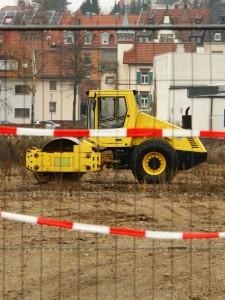 Gelb. Schwarz. Bauarbeiten. Eine Stadt im Umbruch.