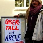 ARCHE-Foto Keltern-Weiler Überfall auf ARCHE Mahnmal Sexueller Missbrauch zerstört