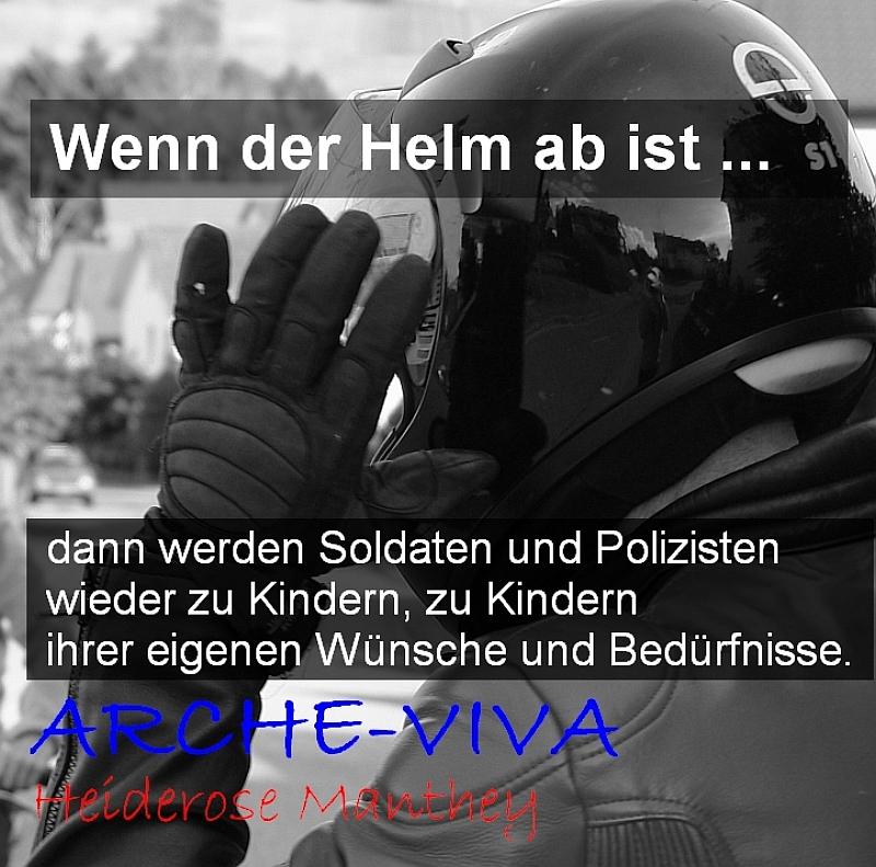 """Keltern-Weiler. Karlsruhe. Rüsten für den Weltfrieden. """"Wenn der Helm ab ist ..."""""""