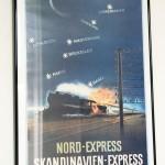 Reiseplakat. Nord-Express.