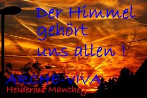 Der Himmel gehört uns allen.  Über Walprechtsweier. Juni 2013.