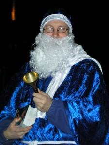 Blauer Weihnachtsmann. Detlef Naumann.