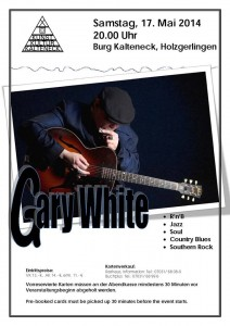 Soon. Mr Gary White In Concert.