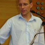 Dr. Christoph Mandla bei seinem Vortrag.