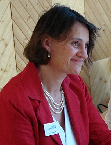Monika Ebeling, Referentin auf dem Väterkongress in Karlsruhe  Foto: Heiderose Manthey