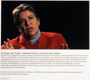 Expertin für Rituelle Gewalt. Michaela Huber. Psychotherapeutin und Traumaexpertin.