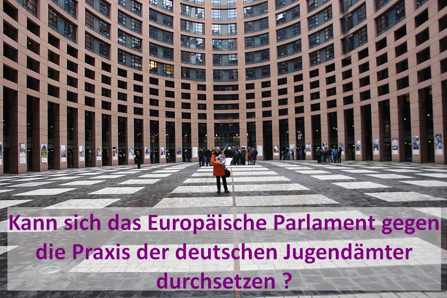 """Aprilscherz ? Anhörung """"Jugendamt Deutschland"""" vor dem Europäischen Parlament in Brüssel entfällt am 1. April."""