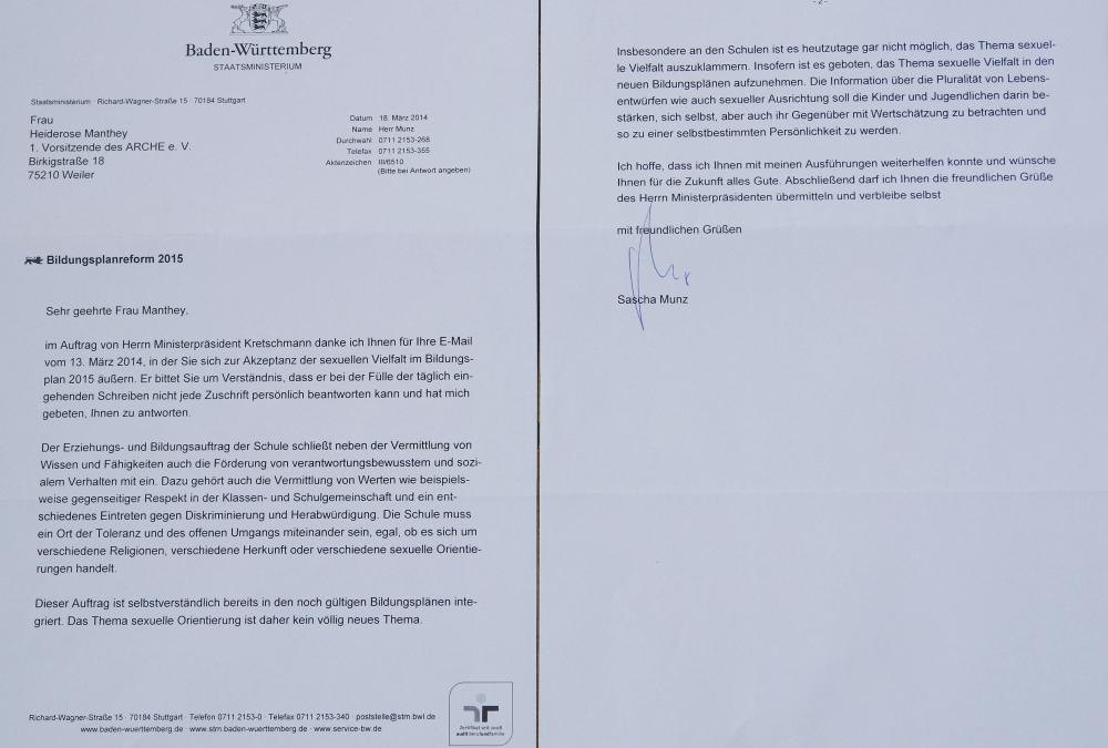 ARCHE-Foto Keltern-Weiler Stuttgart Staatsministerium Bildungsplanreform 2015_01