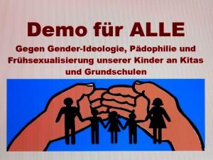 München. Demo für ALLE. Keine Frühsexualisierung.