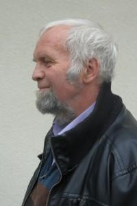 Berlin-Korrespondent Thomas Keller. Langjähriger Kooperator der ARCHE. Hier bei einem Besuch bei Heiderose Manthey. ARCHE in Weiler.