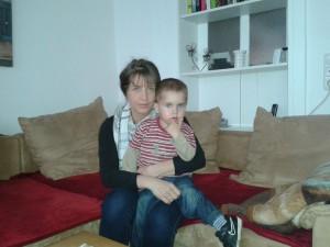 Nach Tagen des blanken Horrors: Wieder vereint. Mutter Diana Elsner und Sohn Linus. Foto: Vater Lars Elsner.