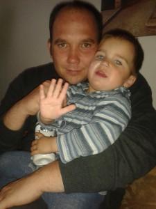 Lars und Linus. Vater und Sohn. Vereint.
