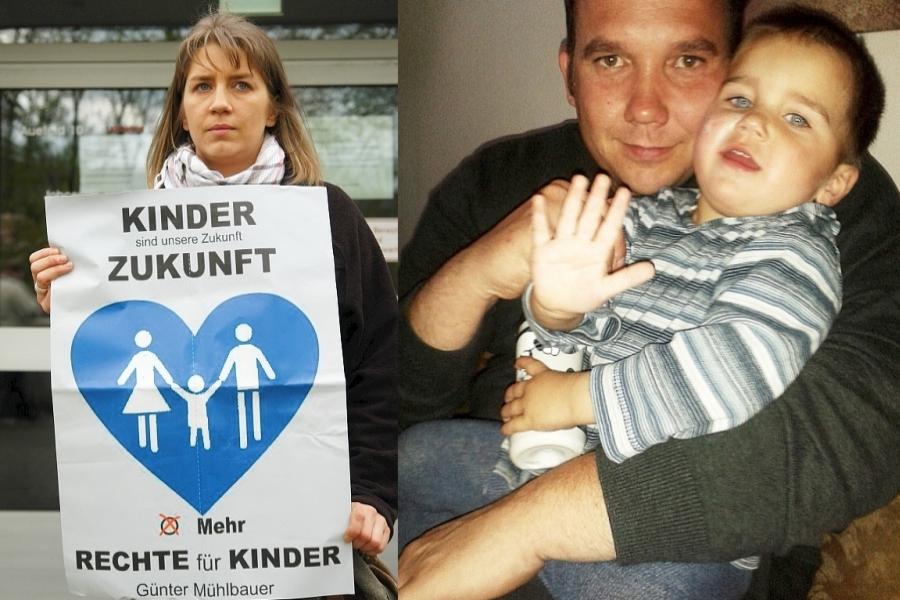 Kennen den Kampf mit dem Jugendamt. Diana Elsner. Lars Elsner und Sohn Linus.