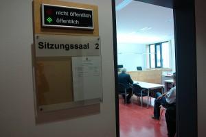 Sitzungssaal 2. Landgericht Kaiserslautern. Berufung im Falle Matthias Engl.