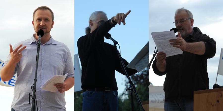 Redner. Juri Harwardt. Christoph Köhler. Wolfgang Theophil.