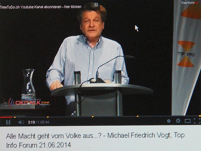 Prof. Dr. Michael Friedrich Vogt. Vortrag im Info-Forum am 21. Juni 2014.
