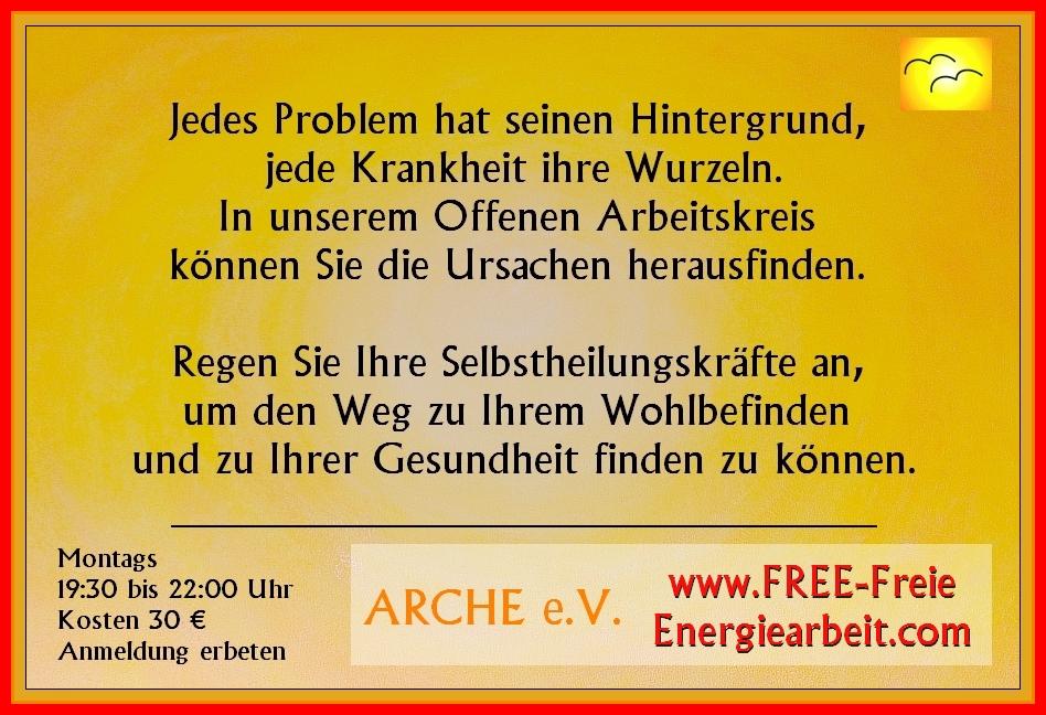 Flyer des OAK-FREE Offener Arbeitskreis FREE - Freie Energiearbeit.