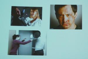 Seltener Anblick ? Männer, die geschlagen werden. Aus André Karger: Gewalt macht krank. Ein Thema auch für Männer ?