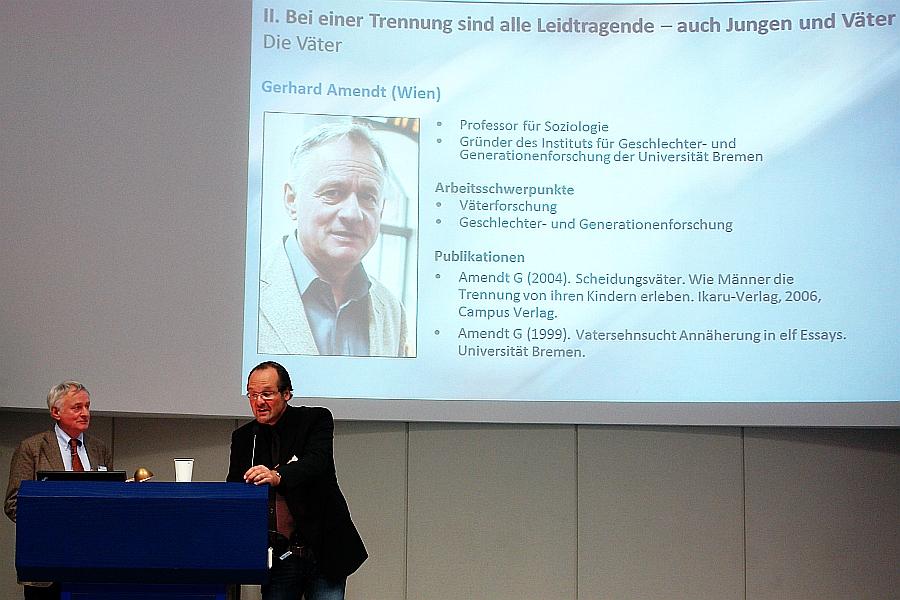 Prof. Dr. Gerhard Amendt. Männerkongress 2012. Scheiden tut weh. Elterliche Trennung aus Sicht der Väter.