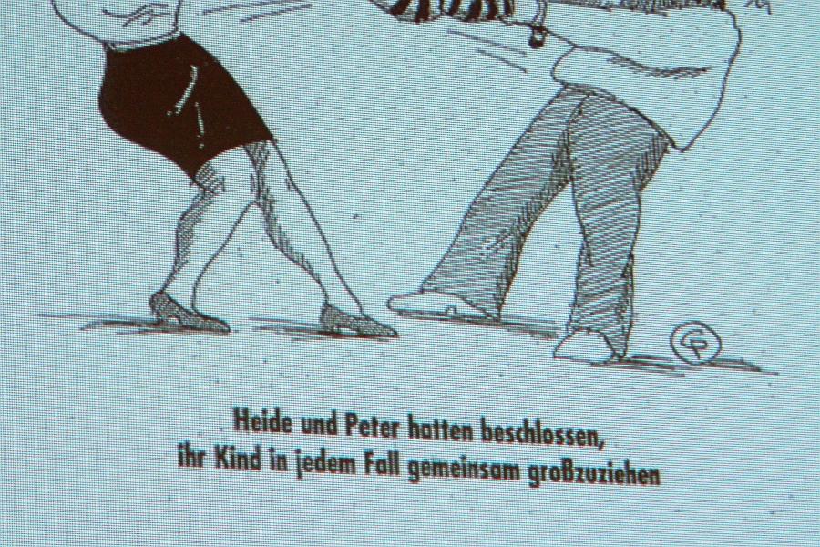 """Es kommt oft anders als man denkt. Aus einer Powerpointpräsentation. """"Heide und Peter hatten beschlossen ..."""""""