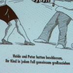 Der Seilkampf. Heidi und Peter.