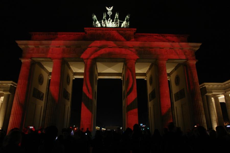 Brandenburger Tor. Wahrzeichen der Vereinigung.