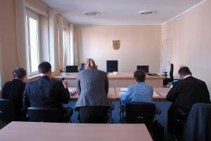 Der Gerichtssaal. Hessischer Verwaltungsgerichtshof in Kassel.