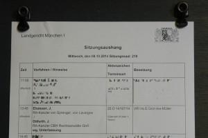 Daten: Elsässer, J. RA-Kanzlei von Sprenger, von Lavergne ./. Ditfurth, J. RA-Kanzler CGH Rechtsanwlte GbR wg. Unterlassung 25 O 14197/14 Güteverh./früher 1. Termin VRi'inLG Gröncke-Müller.