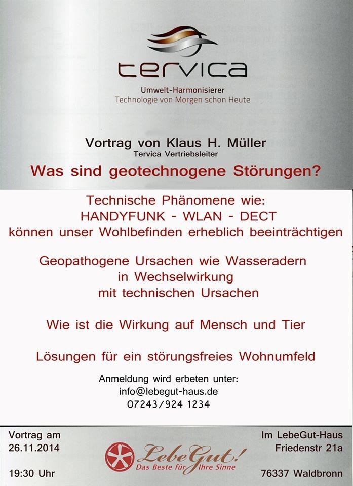 Vortrag im LebeGut-Haus. Friedenstr. 21 a in Waldbronn-Reichenbach.