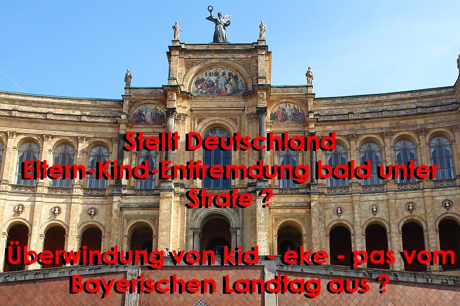 Maximilianeum in der Bayerischen Metropole München. Wird kid - eke - pas bald unter Strafe gestellt ? Ärzte und Wissenschaftler schlagen Alarm. Entfremdung macht krank.