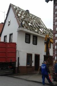 ARCHE-Foto Keltern-Weiler Söllingen Abbruch eines historischen Gebäudes Schmiede_01