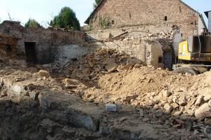 ARCHE-Foto Keltern-Weiler Söllingen Abbruch eines historischen Gebäudes Schmiede_06
