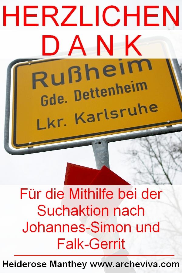 Suchaktion in Rußheim stieß auf Erfolg. Einige kennen die Söhne von Frau Manthey.