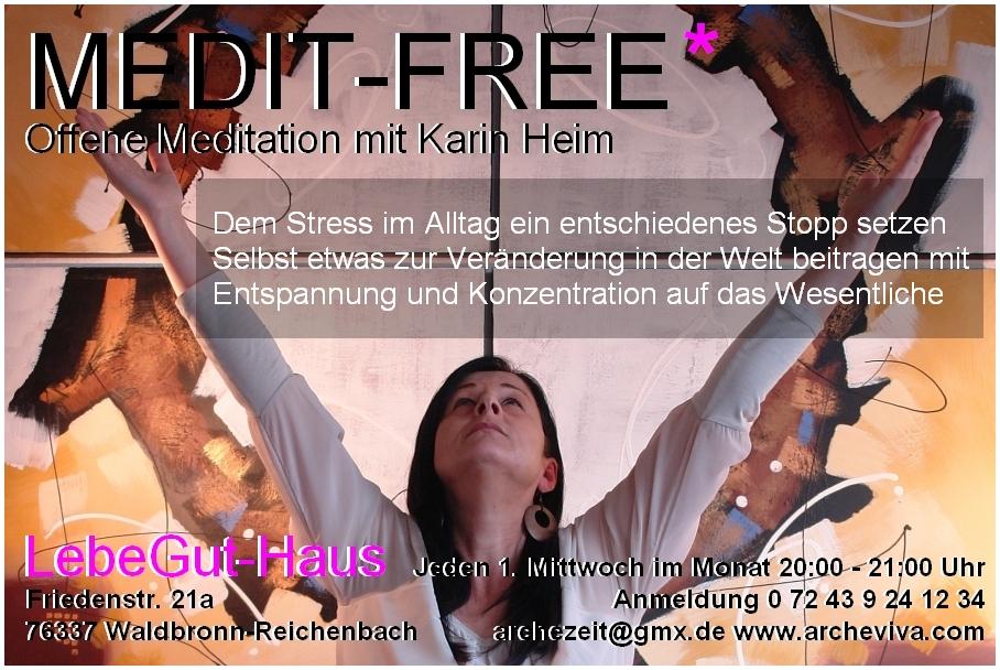 Flyer der ARCHE-MEDIT. Meditation Vision 2015 mit Karin Heim.