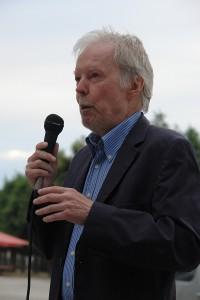 Prof. Dr. Dr. Wolfgang Berger auf der KARLSRUHER FRIEDENS-PROKLAMATION am 23. Juni 2014.