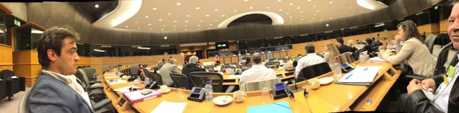 Petitionsausschuss im Europäischen Parlament. Cédric Laurent Heiderose Manthey Wahid Ben Alaya.