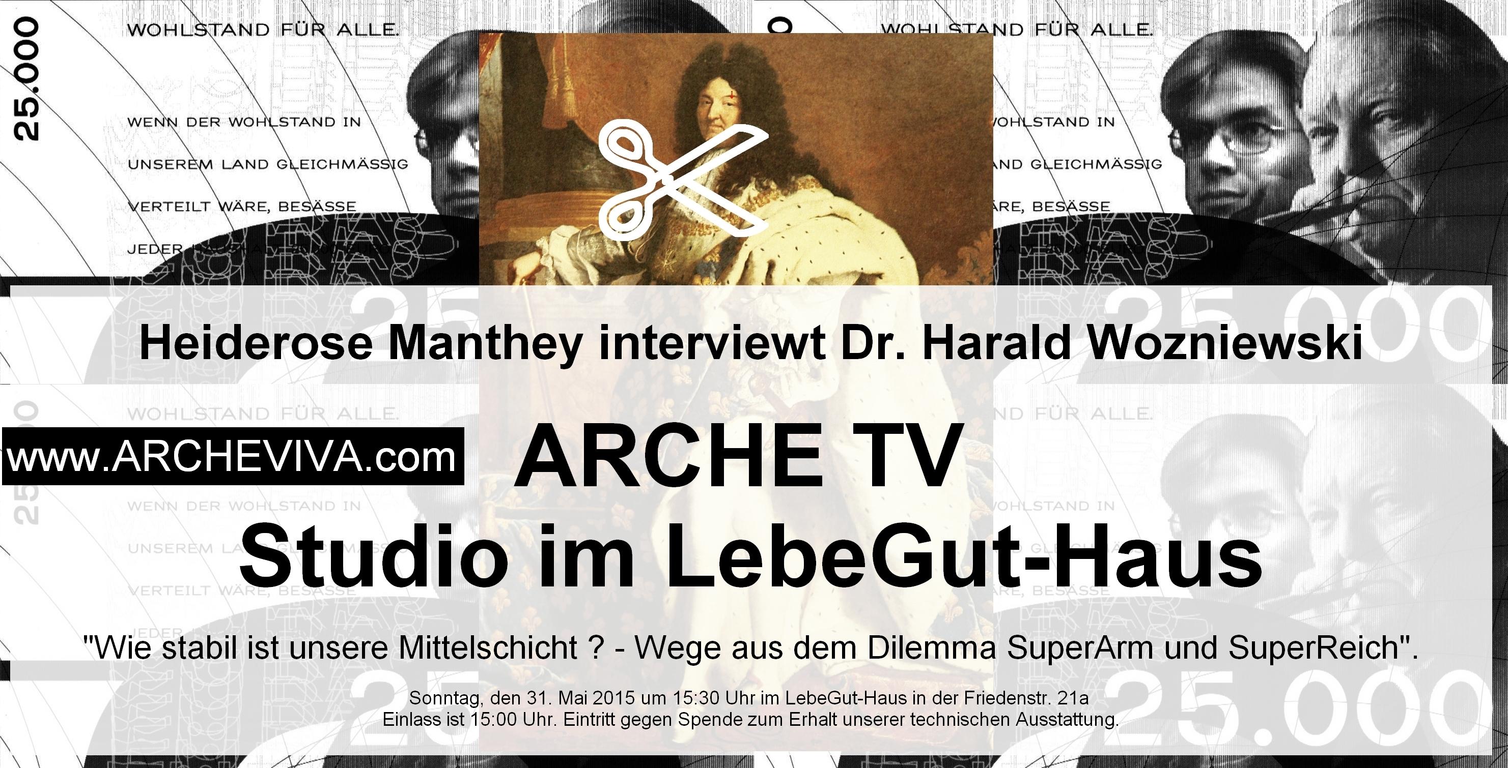 Live-Interview mit Dr. Harald Wozniewski im ARCHE TV - Studio im LebeGut-Haus.