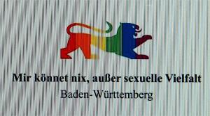 """Baden-Württemberg """"Mir könnet nix, außer sexuelle Vielfalt"""""""