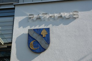 Rathaus Waldbronn. Ort des Rausschmisses der 1. Vorsitzenden des ARCHE e.V. durch Bürgermeister Masino.