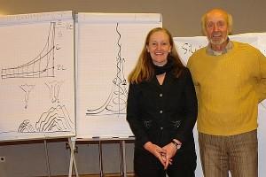 Prof. Dr. Bernd Senf und Heiderose Manthey.