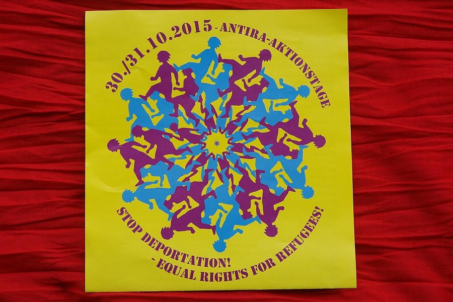Antira-Aktionstage am 30./31.10.2015 in Karlsruhe.