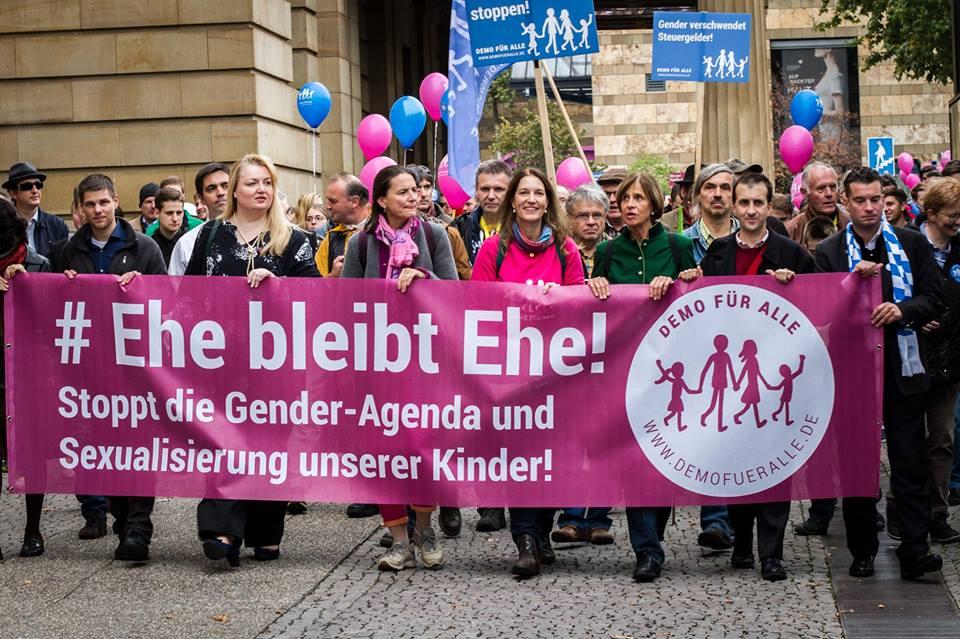 Die nächste DEMO FÜR ALLE am 22. Februar in Stuttgart. Hinfahren ! Foto: Copyright Demo für Alle.