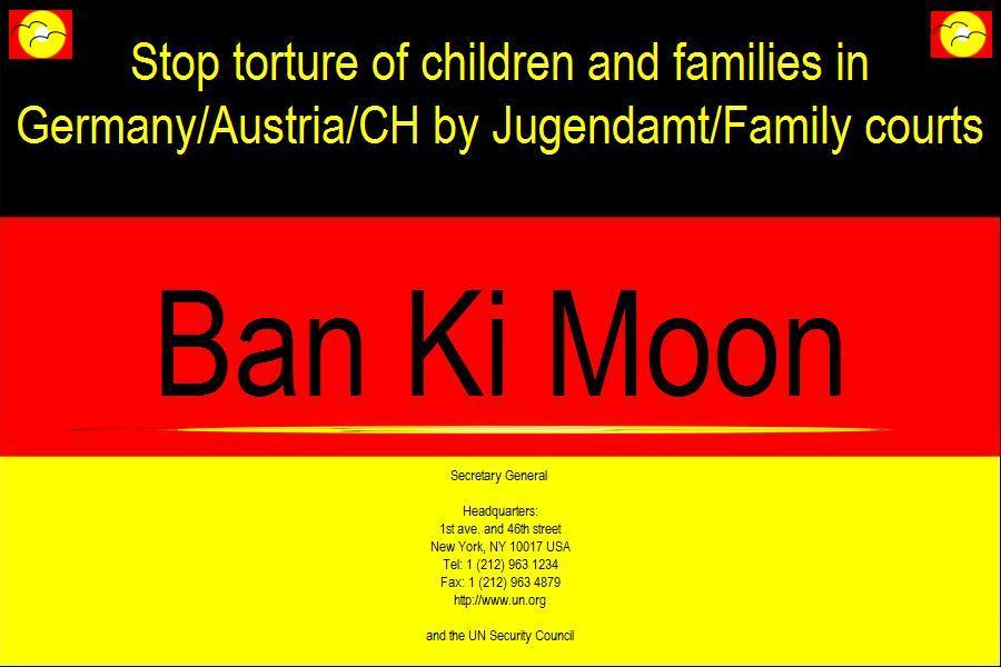 In Kontakt mit Ban Ki Moon.