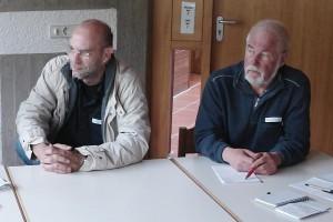 Horst Schmeil (rechts). Dipl. Pädagoge. Beim Vernetzungskongress in Karlsruhe.