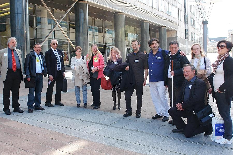 Delegation in Brüssel: Deutschland Frankreich Griechenland Italien.