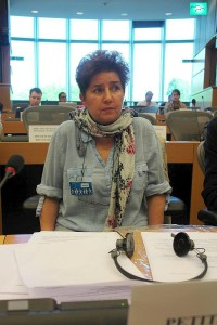 She accuses Germany. Andrea Jacob. She is asking for penalizing Germany for these crimes.